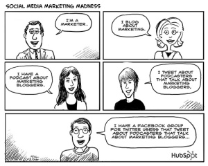 social media marketing cartoon